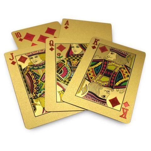 24K Gold PLated Playing Cards FULL POKER DECK 99.9% pure