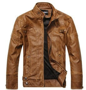 Bandit Leather Jacket-Dark Brown