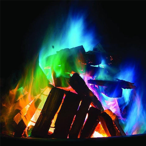 5 pack of Mystical Fire Magic - Rainbow Colored Flames