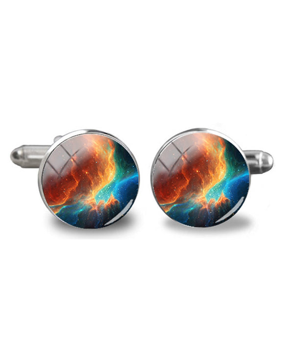 Men's Space Galaxy Cufflinks