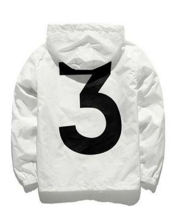 3 Windbreaker Jacket-White
