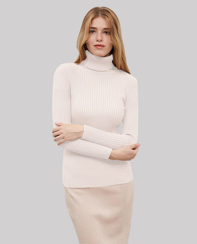 Linder Turtleneck Sweater in White