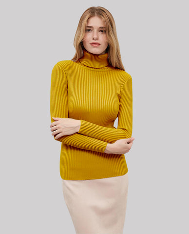Linder Turtleneck Sweater in Yellow