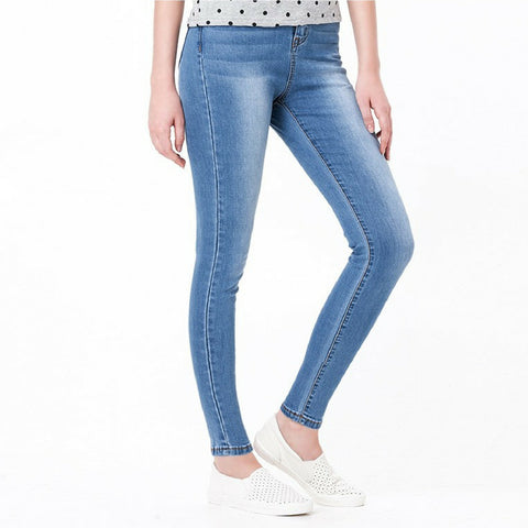 High Waisted Premium Jeans in Wash Light Blue