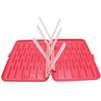 travel drying rack - raspberry