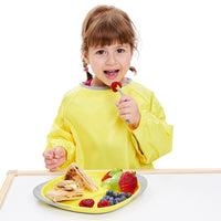 smock bib large - lemon sherbet