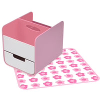 diaper caddy - pretty in pink