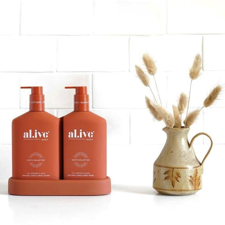 Alive Body Bath + Body Fig, Apricot, and Sage Wash & Lotion Duo
