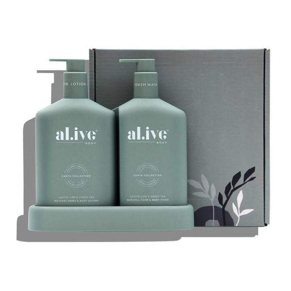 Alive Body Bath + Body Kaffir Lime and Green Tea Wash & Lotion Duo