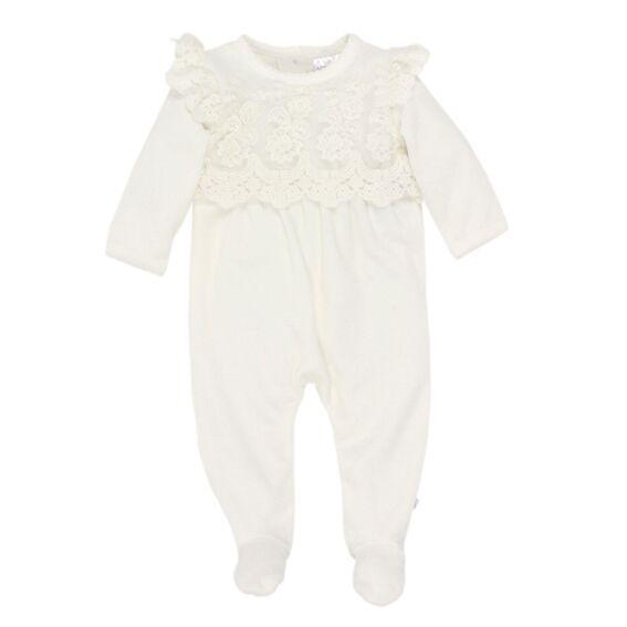 Bebe LP Clothing LS Lace Romper