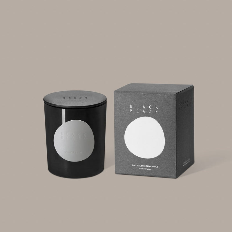 Black Blaze Candle Vetiver & Fig Scented Candle