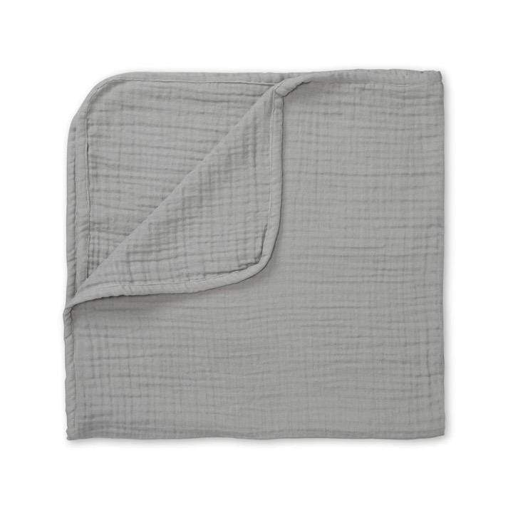 CAM CAM LP Bedding Organic Muslin 4-Layer Blanket, Grey