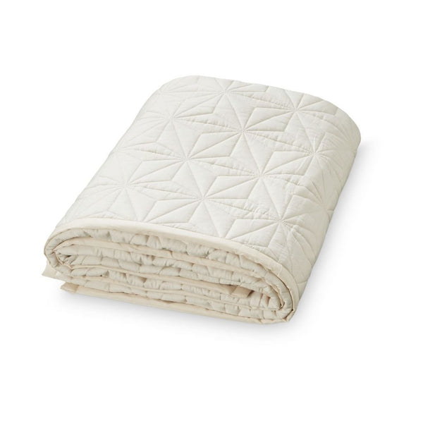 CAM CAM LP Bedding White Signature Quilt Creme - White (Junior)
