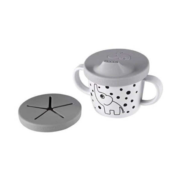 Done By Deer Mealtime Elphee Spout/Snack Cup, Grey