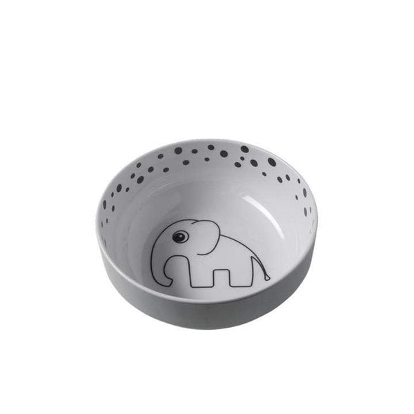 Done By Deer Mealtime Happy Dots Yummy Bowl Grey