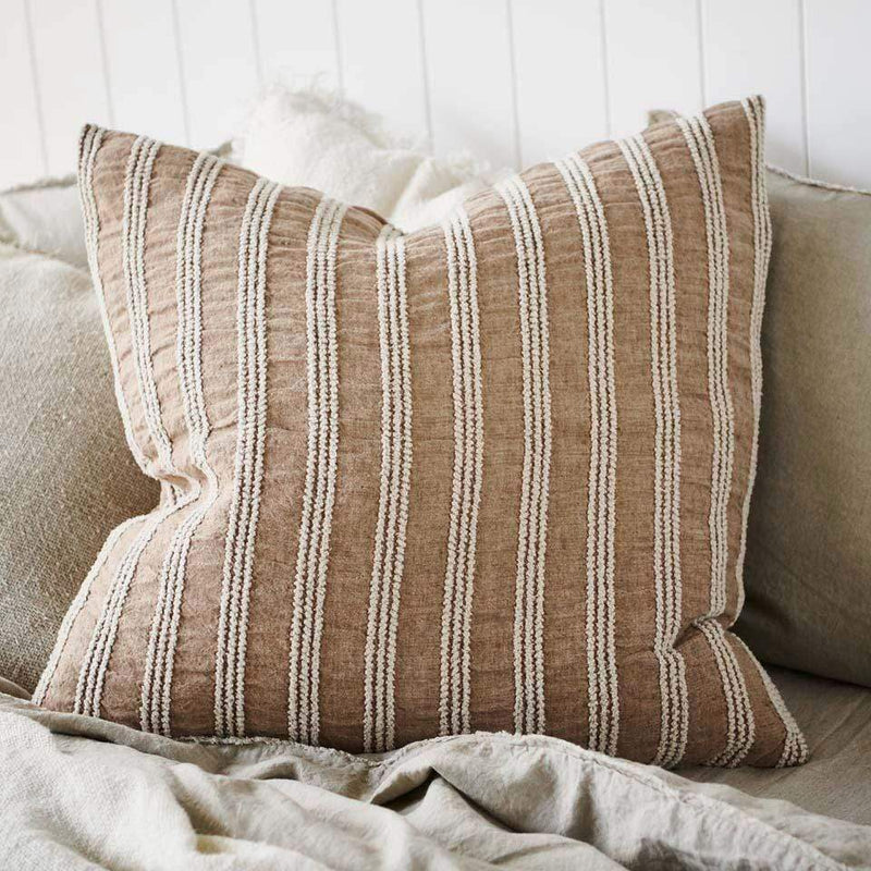 Eadie Cushions Low Tide Linen Cushion - Antique Rose
