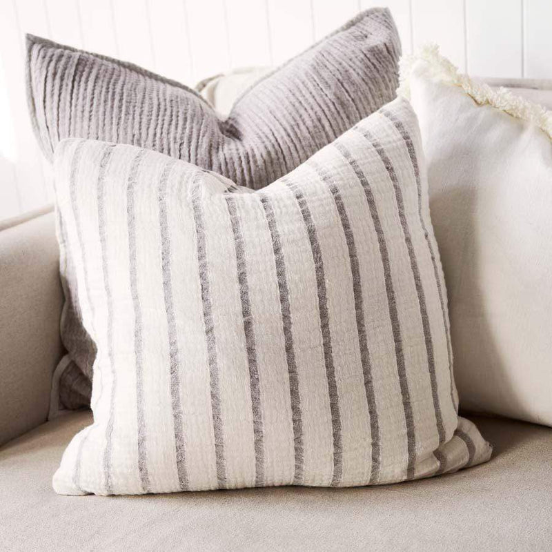 Eadie Cushions Sea Spray Cushion, Silver Grey / White
