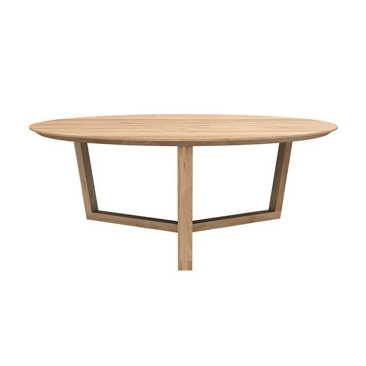 Globe West Coffee Table Oak Ethnicraft Tripod II Coffee Table