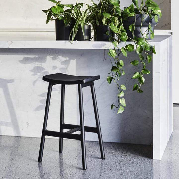 Globewest Bar Stool Sketch Odd Barstool, Black
