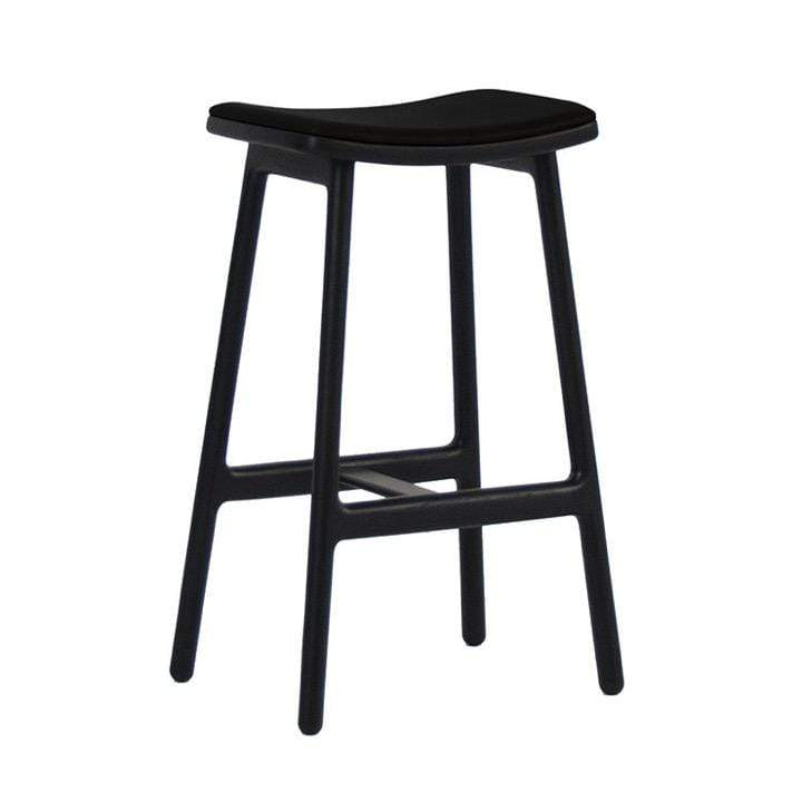 Globewest Bar Stools Sketch Odd Leather Barstool, Black