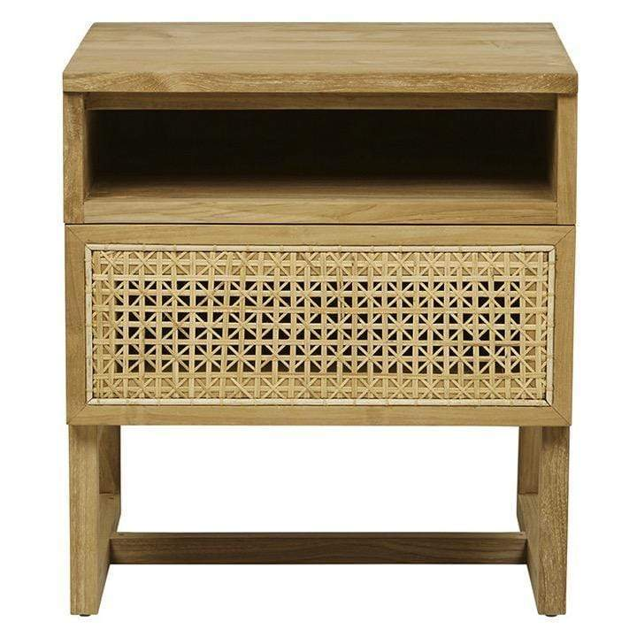 Globewest Bedroom Willow Woven Bedside