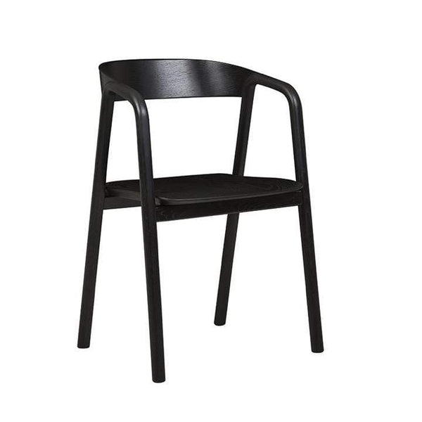 Globewest Chairs + Stools + Ottomans Sketch Inlay Arm Chair, Black