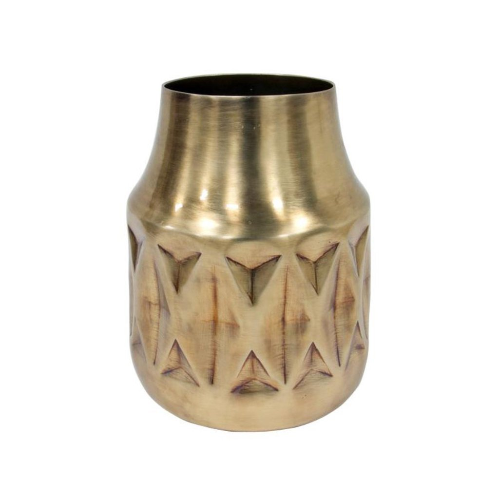 HK Living home decor Geo Brass Vase