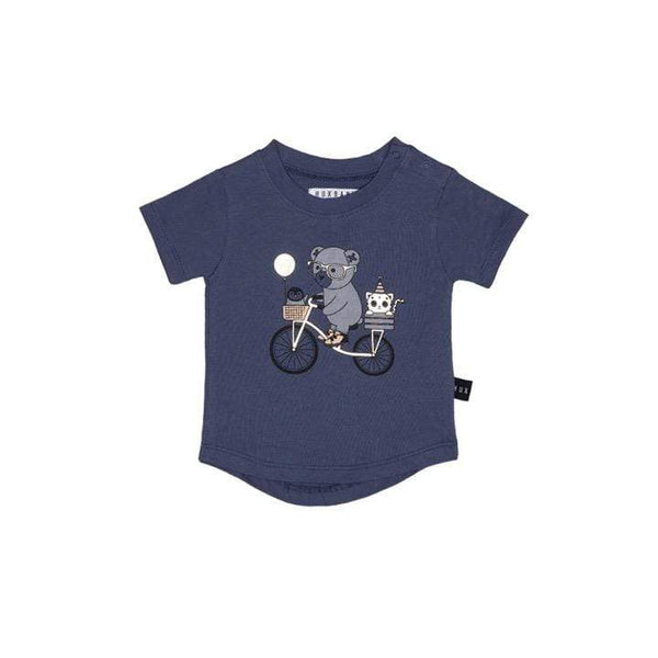 HUXBABY LP Clothing Bike T-Shirt, Indigo