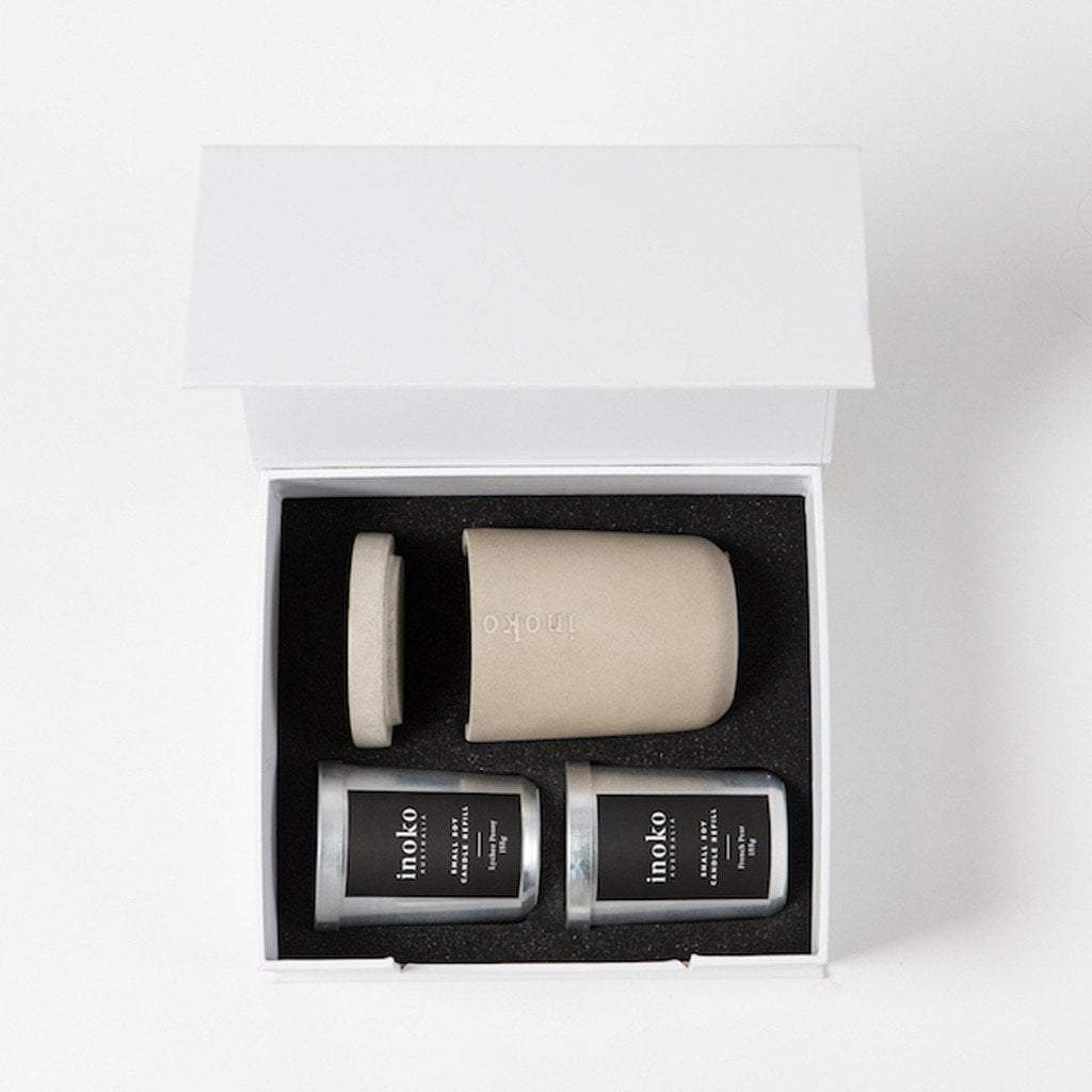 Inoko Candle Concrete Small Gift Set