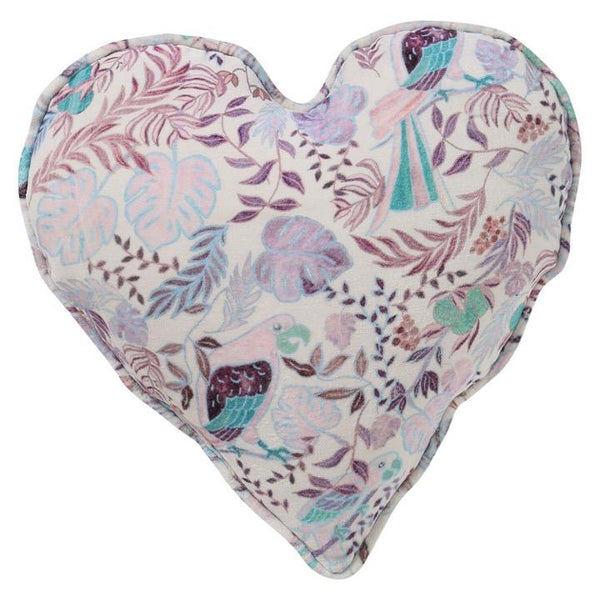 Kip & Co LP Bedding Little Paradiso Musk Velvet Heart Cushion
