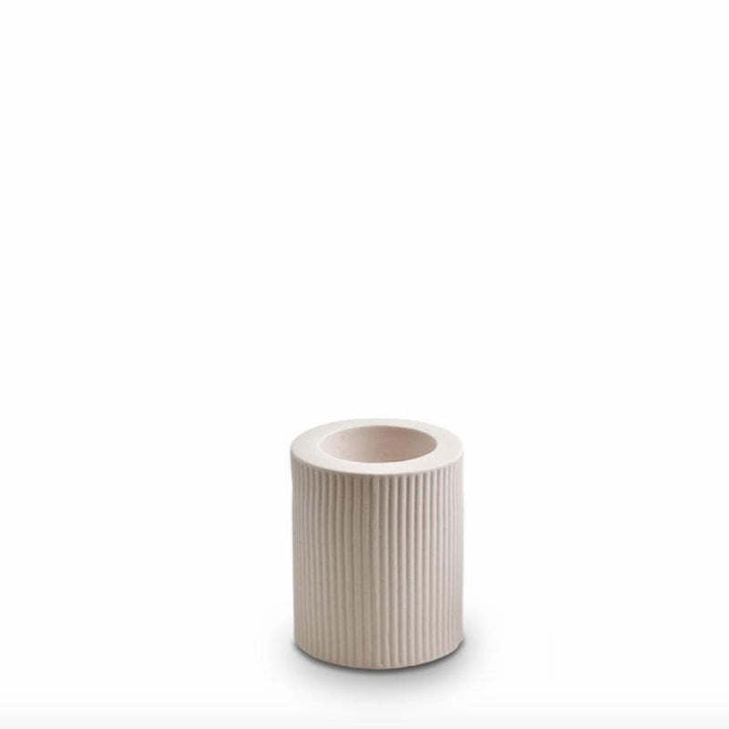 Marmoset Found Candle Ribbed Infinity Candle Holder (M), Nude