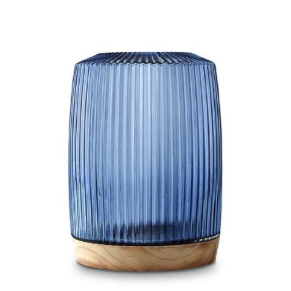 Marmoset Found home decor Pleat Vase, Ink Blue XL