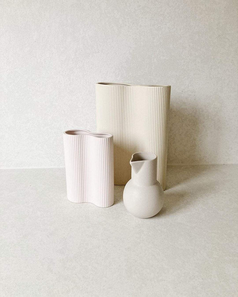 Marmoset Found Pots + Vases + Lanterns Ribbed Infinity Vase (S), Nude