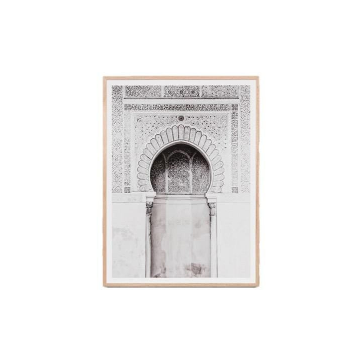 Middle of Nowhere Art Moroccan Arch Neutral