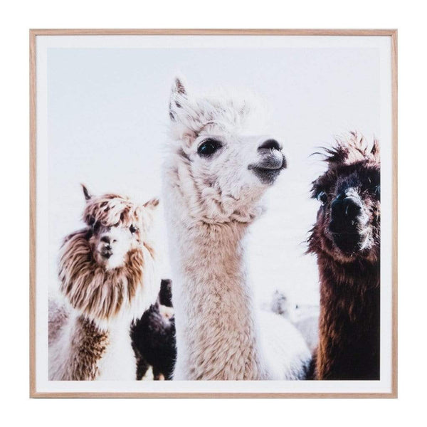 Middle of Nowhere LP Artwork Llama Friends Print