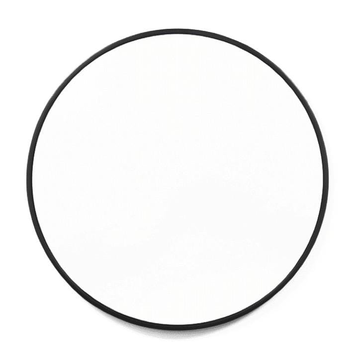 Middle of Nowhere Mirror 60cm D Bella Round Mirror, Black Gloss