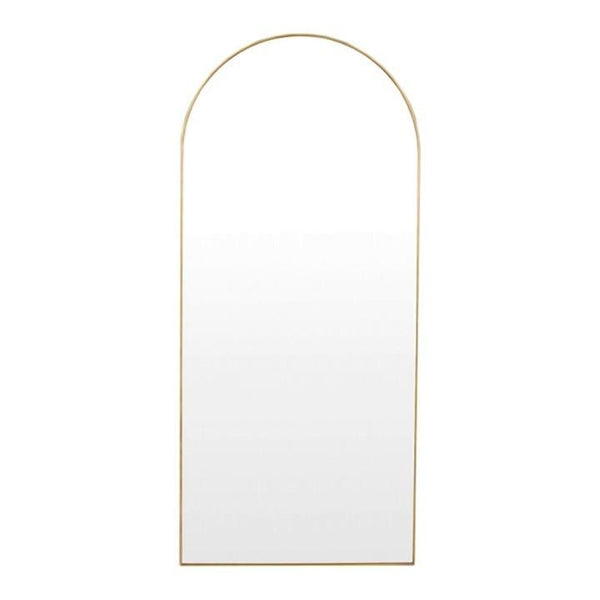 Middle of Nowhere Mirror Bjorn Arch Floor Mirror, Brass