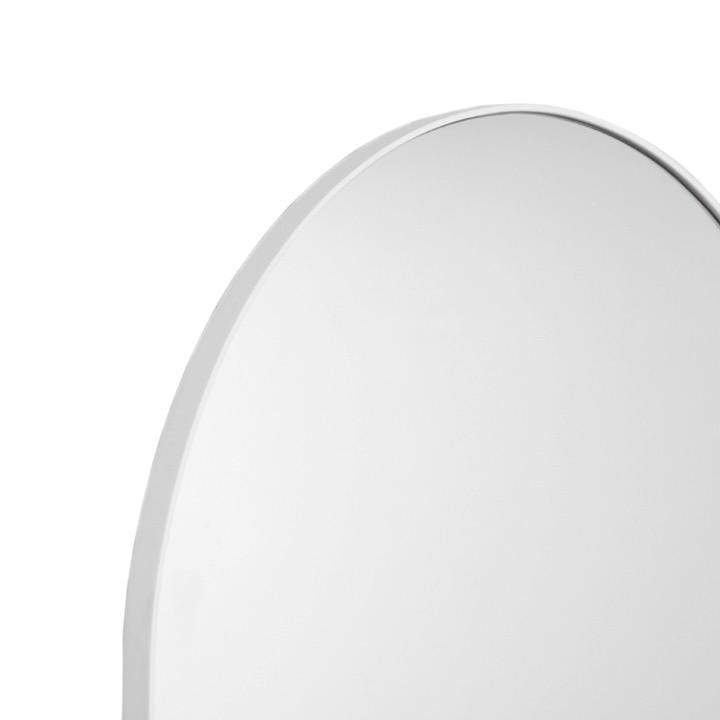 Middle of Nowhere Mirror Bjorn Arch Floor Mirror, White