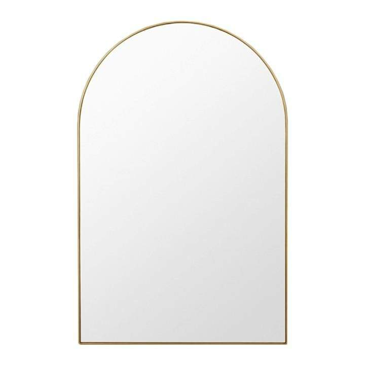 Middle of Nowhere Mirror Bjorn Arch Oversized Mirror, Brass