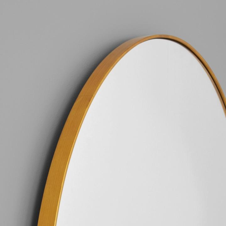 Middle of Nowhere Mirror Bjorn Arch Slim Mirror, Brass