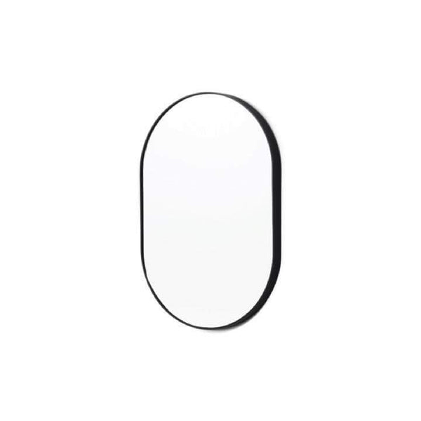 Middle of Nowhere Mirror Bjorn Oval Mirror, Black