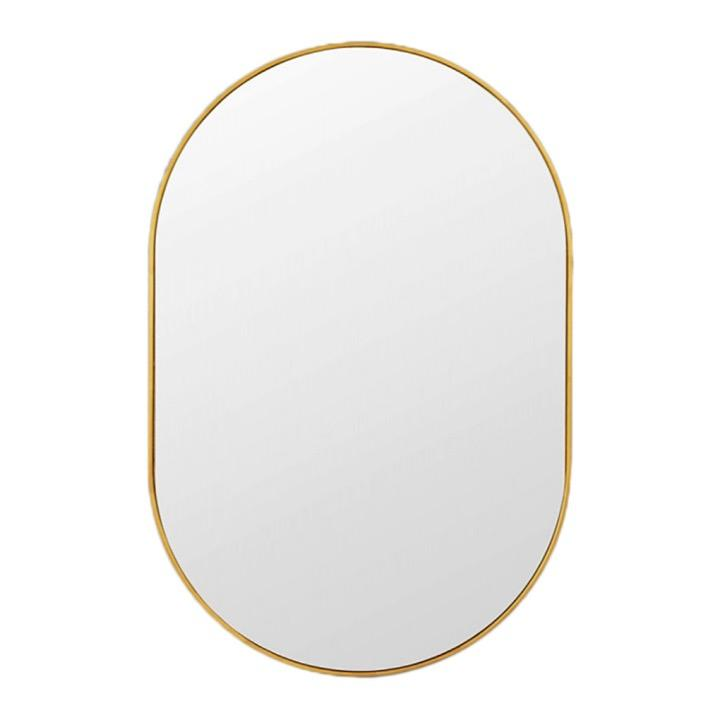 Middle of Nowhere Mirror Bjorn Oval Mirror, Brass