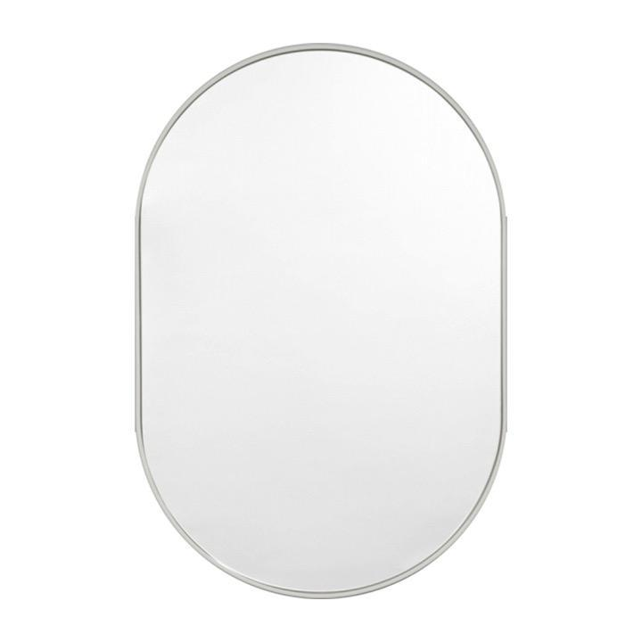 Middle of Nowhere Mirror Bjorn Oval Mirror, Dove
