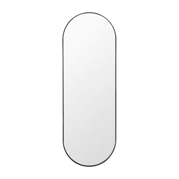 Middle of Nowhere Mirror Bjorn Oval Mirror Large, Black