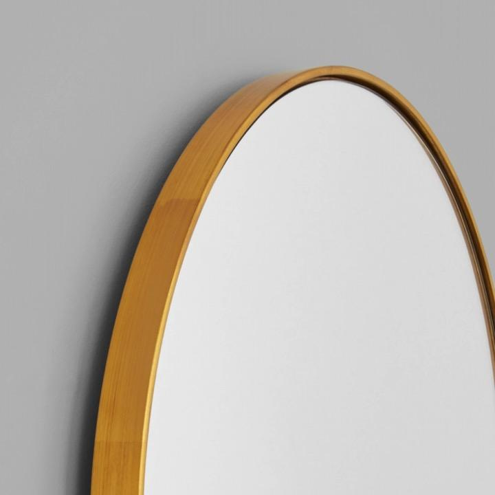 Middle of Nowhere Mirror Bjorn Oval Mirror Large, Brass