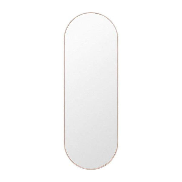 Middle of Nowhere Mirror Bjorn Oval Mirror Large, Powder
