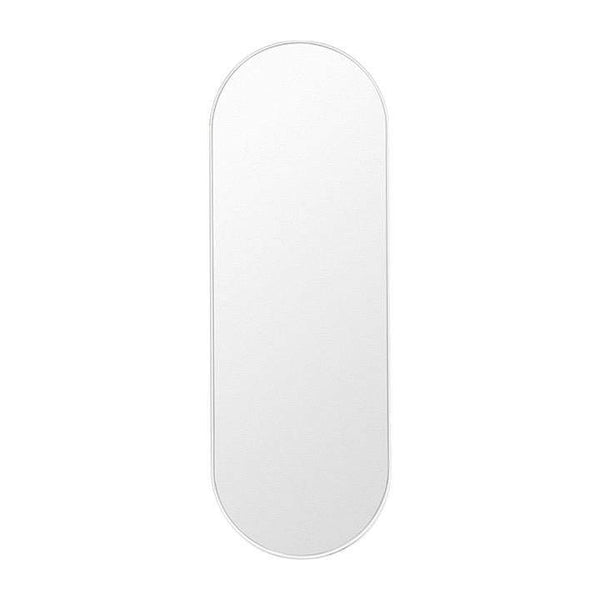 Middle of Nowhere Mirror Bjorn Oval Mirror Large, White