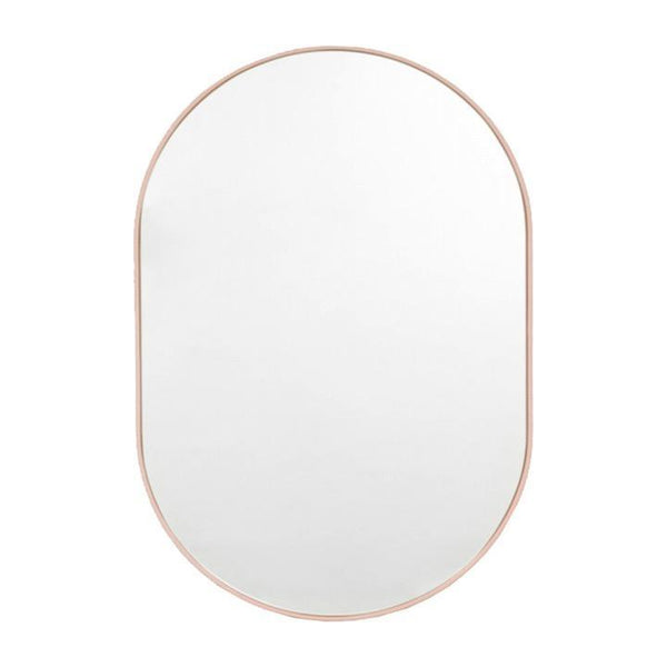 Middle of Nowhere Mirror Bjorn Oval Mirror, Powder