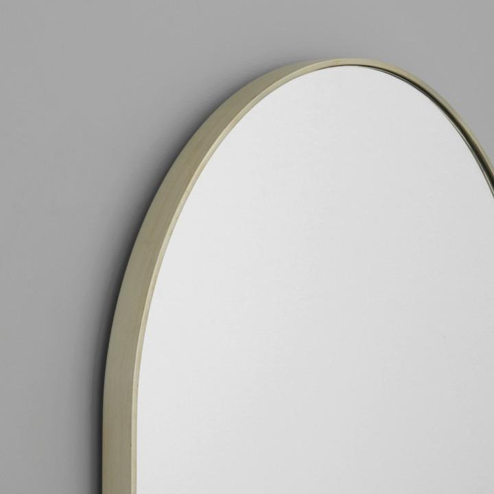 Middle of Nowhere Mirror Bjorn Oval Mirror, Silver