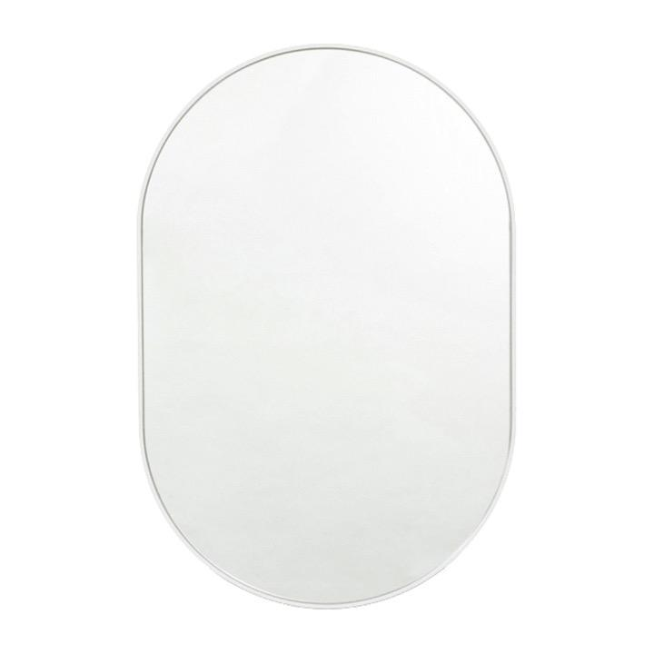 Middle of Nowhere Mirror Bjorn Oval Mirror, White